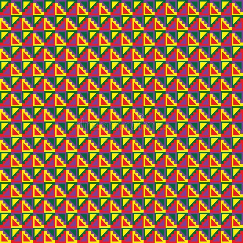 Картина уникально геометрического вектора безшовная сделанная в этническом стиле A бесплатная иллюстрация