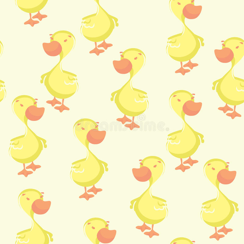 Картина утки безшовная иллюстрация вектора