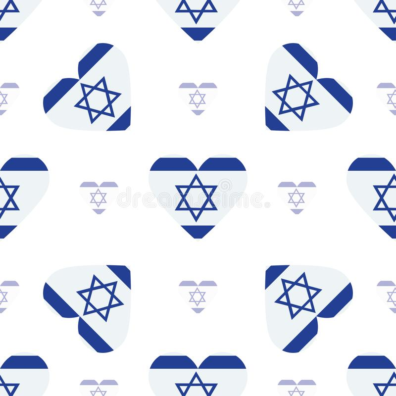 Картина флага Израиля патриотическая безшовная бесплатная иллюстрация