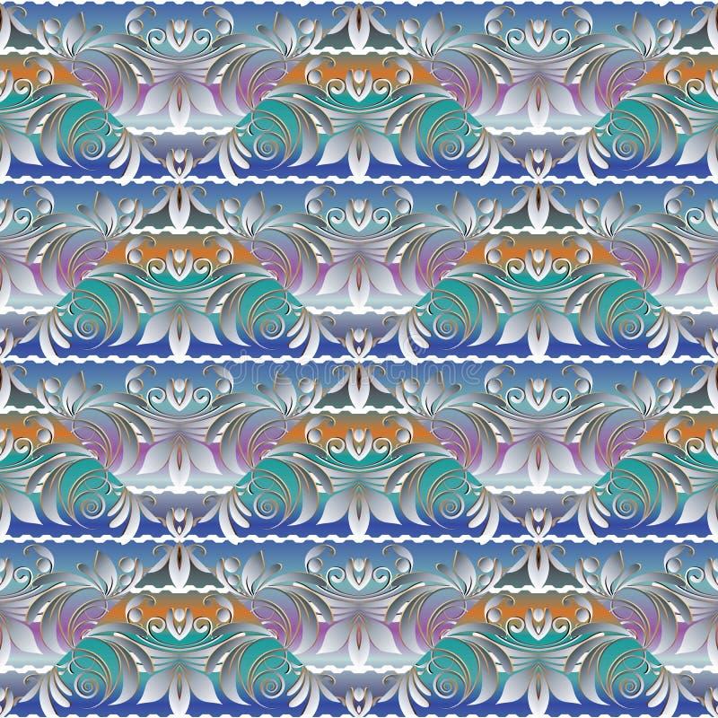 Картина флористической элегантности безшовная Светлое красочное современное backgrou иллюстрация вектора