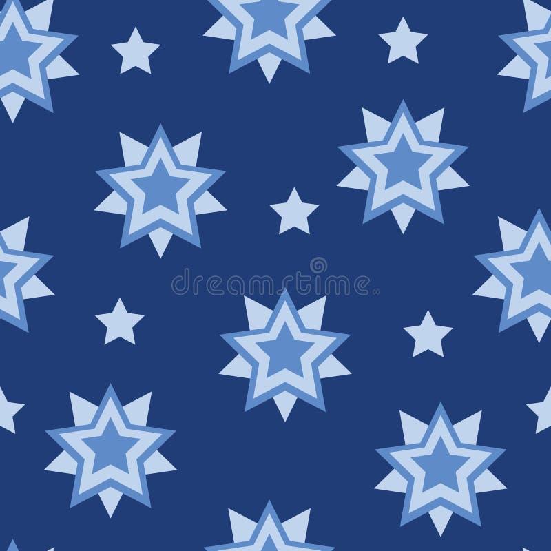Картина формы звезды вектора геометрическая безшовная иллюстрация штока