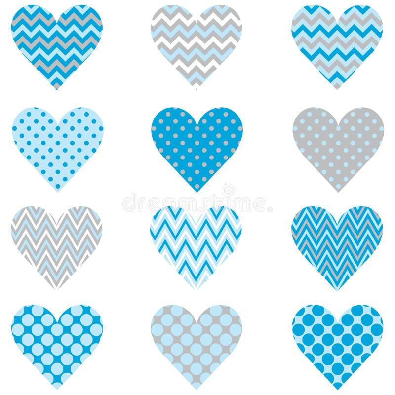 Картина формы сердца сини младенца иллюстрация вектора