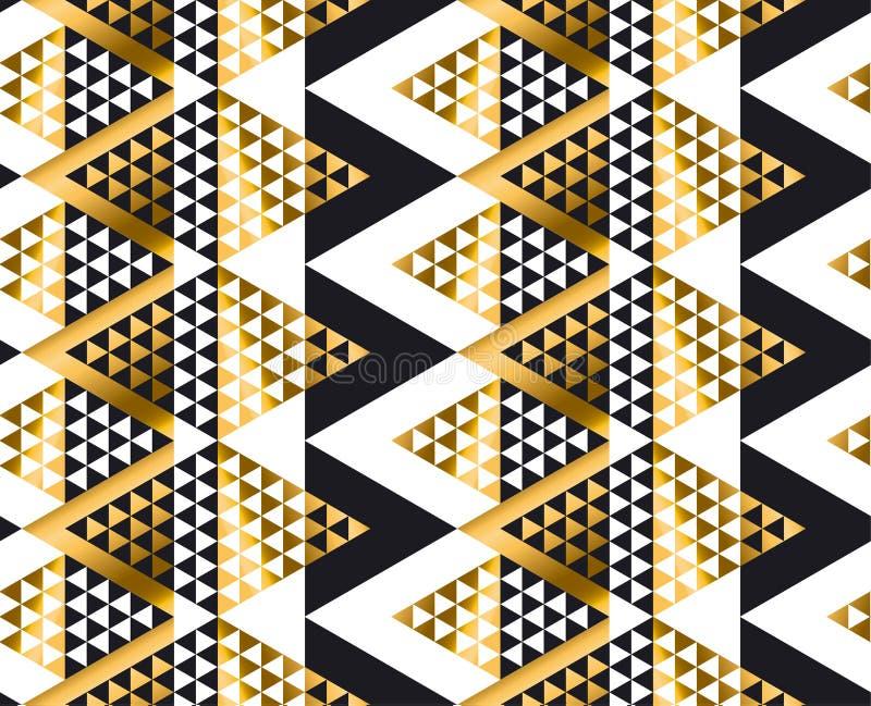 Картина формы треугольника геометрическая африканская племенная безшовная иллюстрация штока