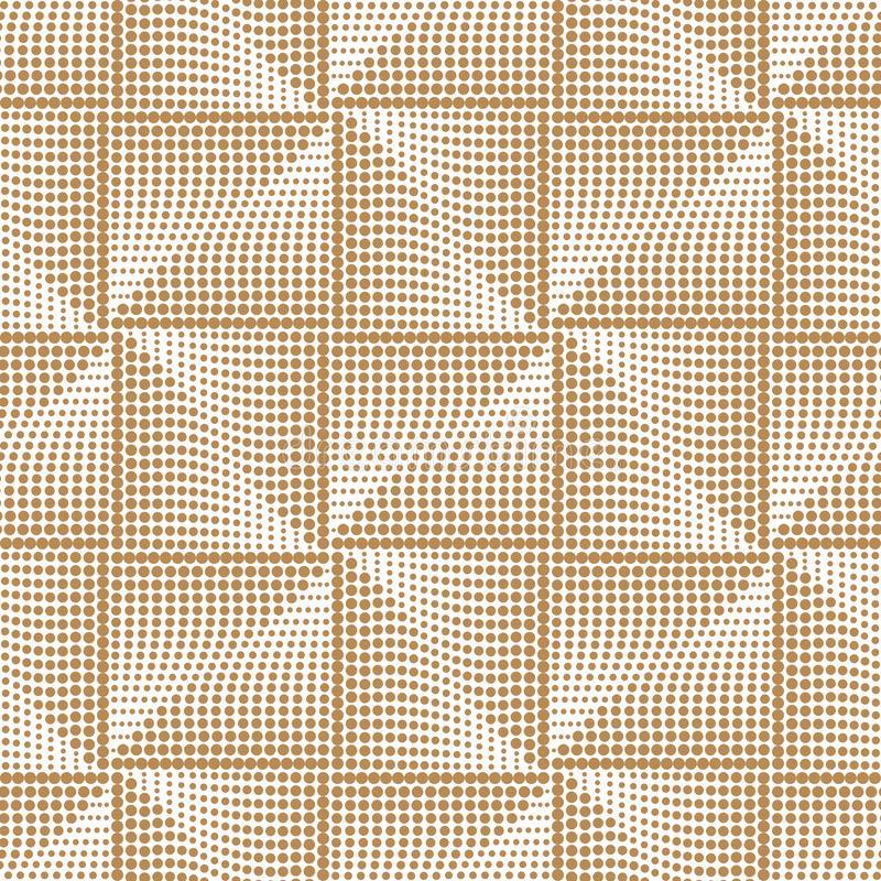 Картина футуристического квадратного золота безшовная Геометрическая абстрактная золотая предпосылка, элегантная картина также ве бесплатная иллюстрация
