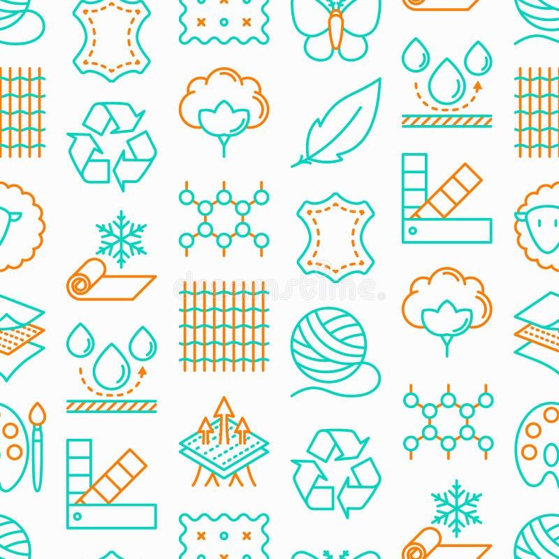 Картина характеристики ткани безшовная бесплатная иллюстрация