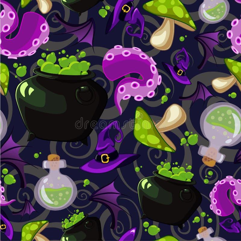 Картина хеллоуина вектора безшовная стоковая фотография rf