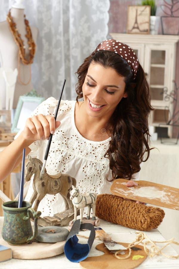 Картина хобби в винтажном стиле стоковая фотография