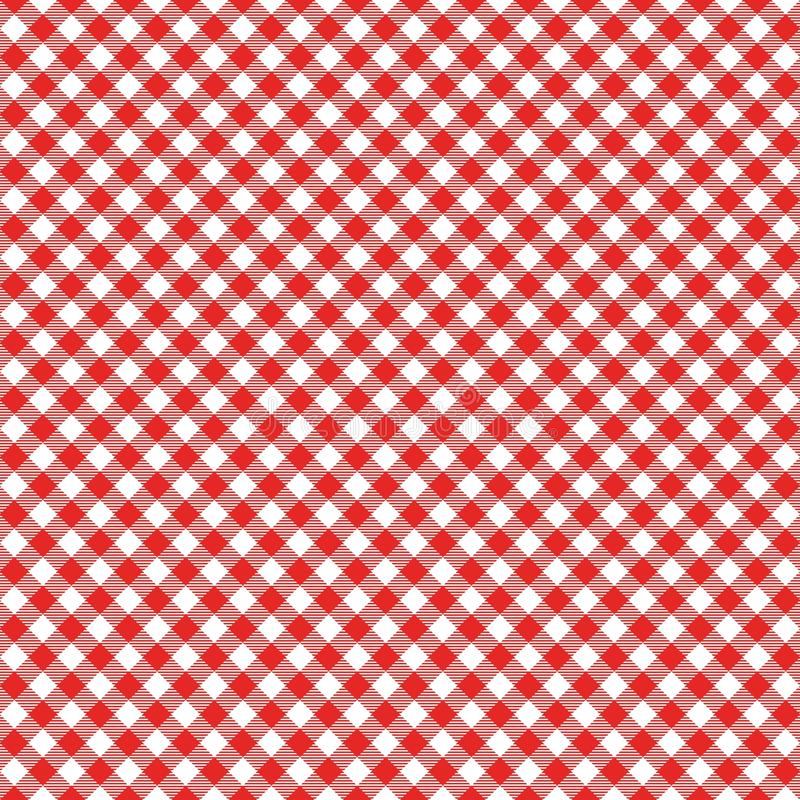 Картина холстинки безшовная Красная итальянская скатерть Вектор ткани сказа пикника иллюстрация штока
