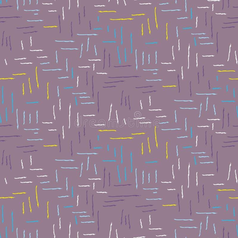 Картина хода щетки безшовная фиолетовая брошенная иллюстрация штока