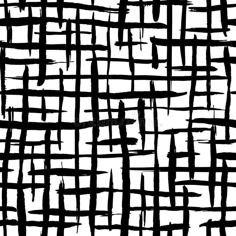 Картина художественных нашивок щетки безшовная Фон нашивки излишка бюджетных средств руки вычерченный иллюстрация штока