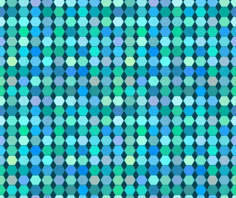 Картина цветастого varied вектора шестиугольника безшовная иллюстрация вектора