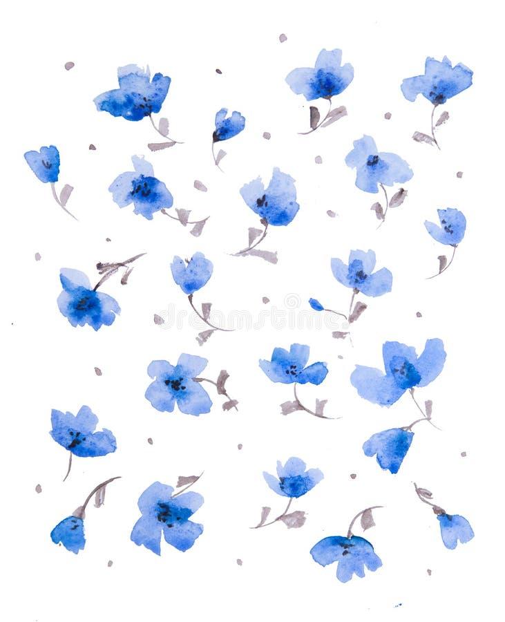 Картина цветка акварели иллюстрация штока