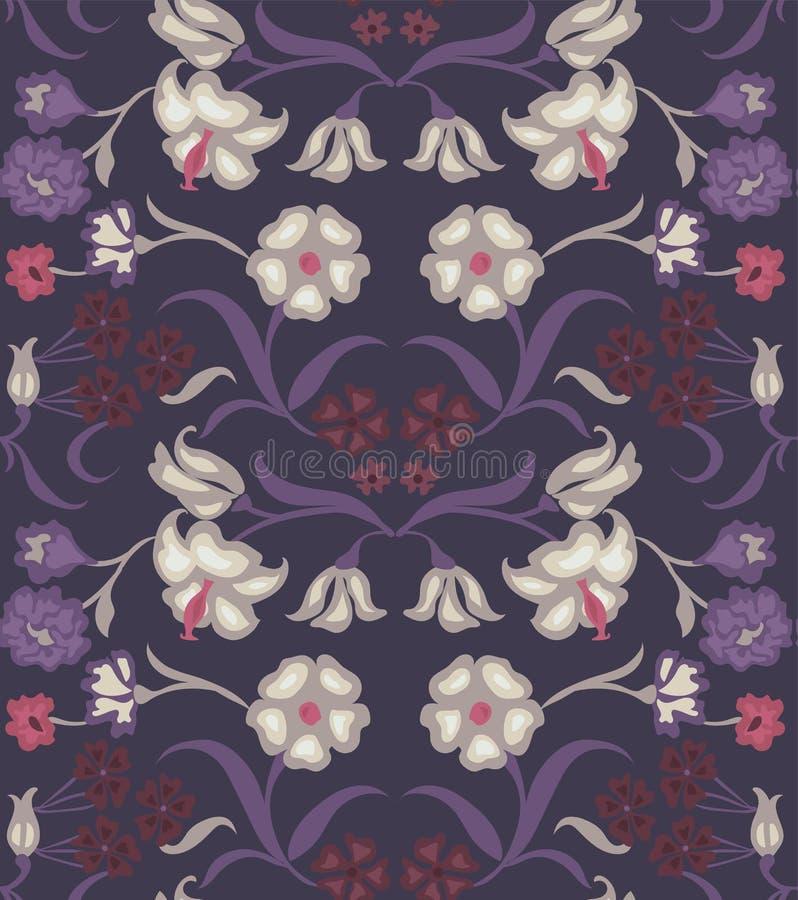 картина цветка безшовная Сад предпосылки лета для дизайна иллюстрация штока