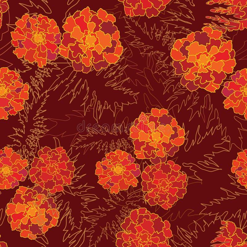 Картина цветка безшовная. иллюстрация вектора