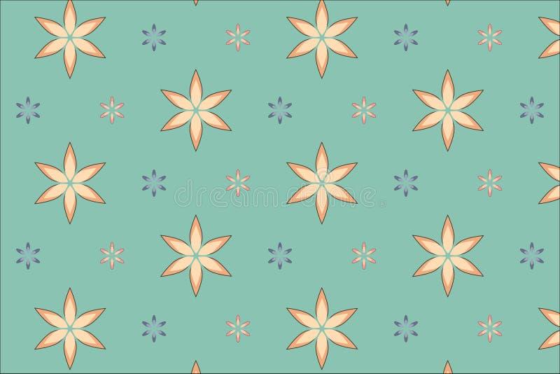 Картина цветка безшовная стоковая фотография