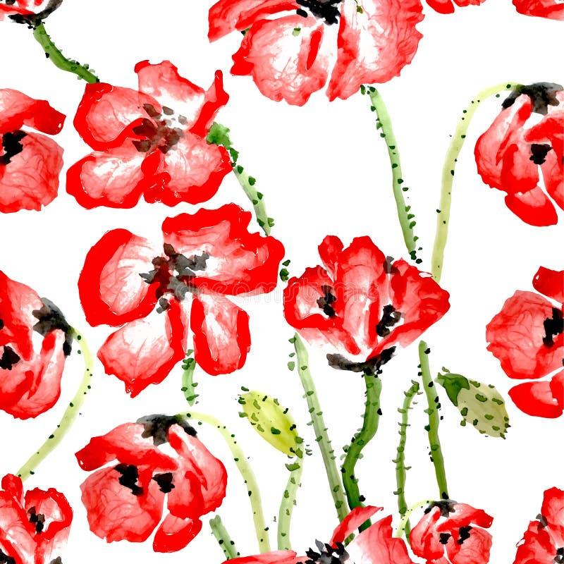 Картина цветка безшовная иллюстрация штока