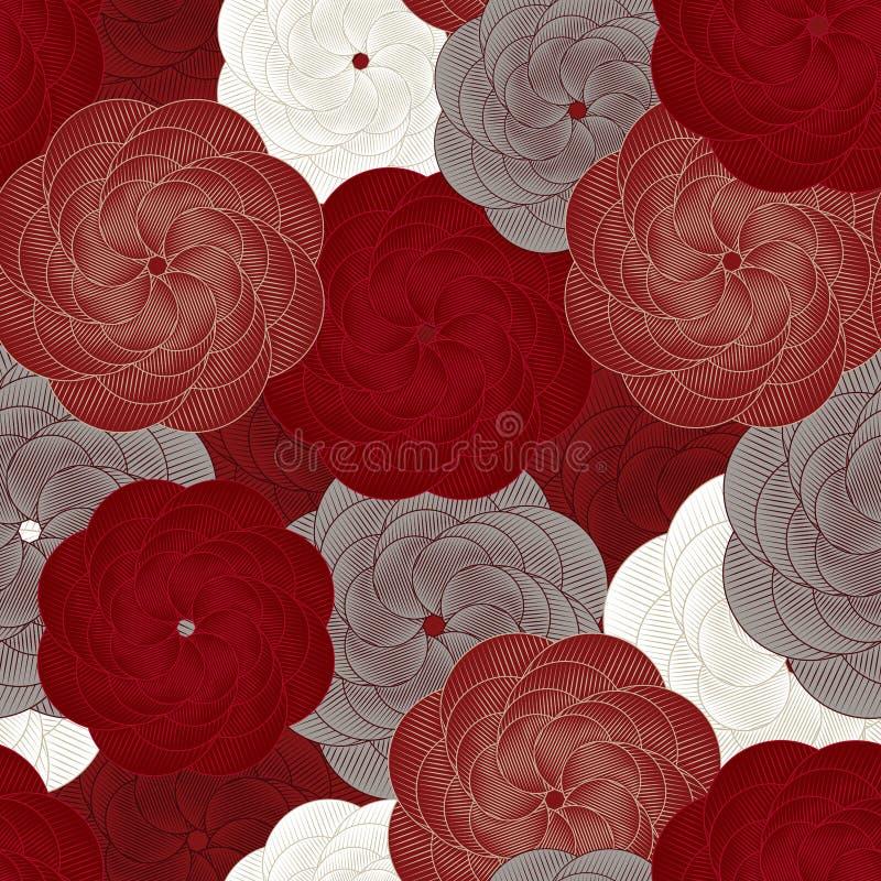 Картина цветка вектора безшовная o Розовая картина, обложка книги, упаковывая, приглашение свадьбы иллюстрация вектора