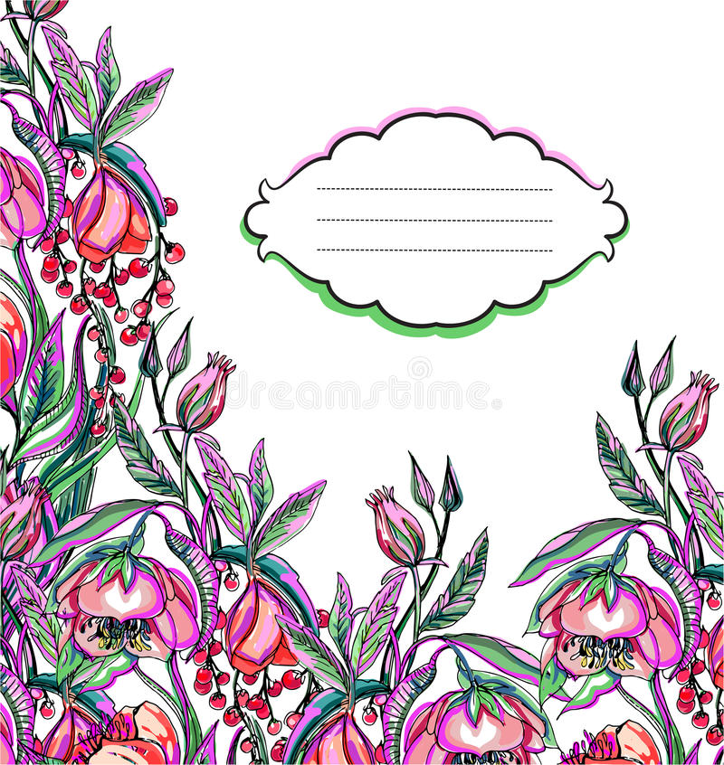 Картина цветка вектора художественного произведения иллюстрация вектора