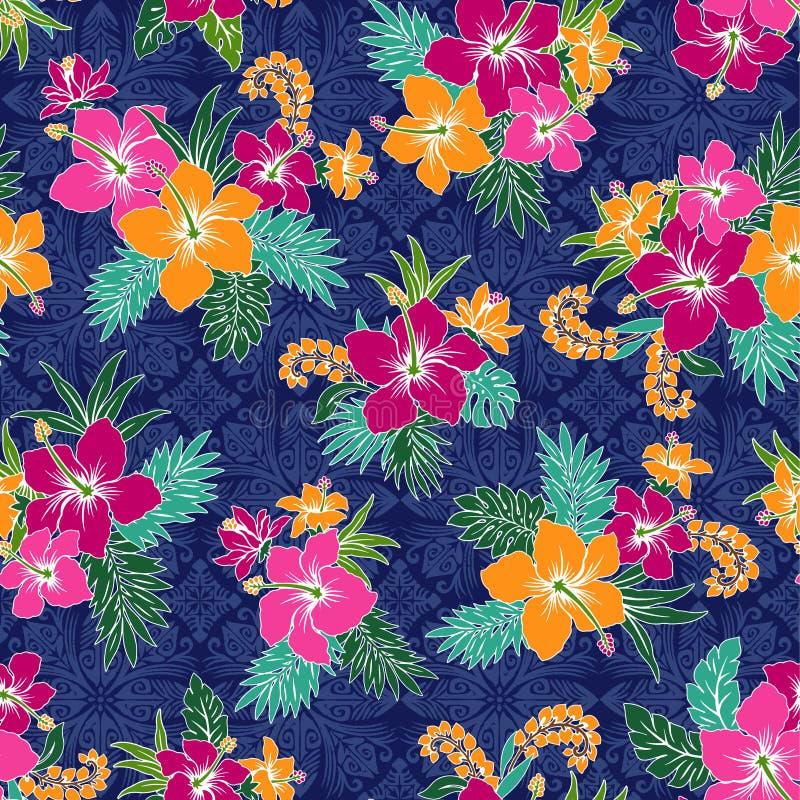 Картина цветка гибискуса бесплатная иллюстрация