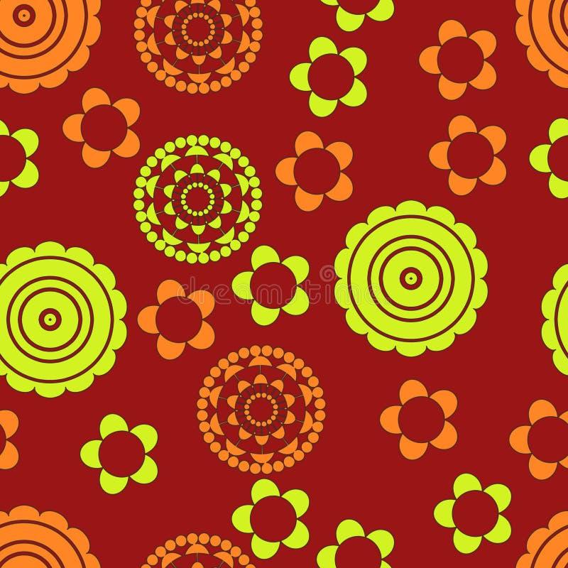 картина цветка зеленая померанцовая бесплатная иллюстрация