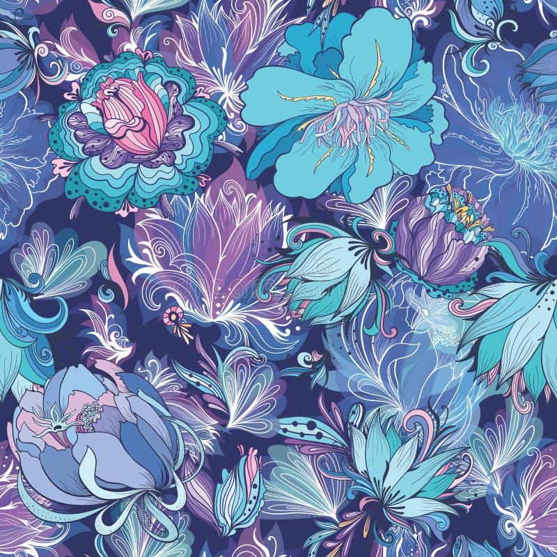 Картина цветка индиго вектора иллюстрация штока