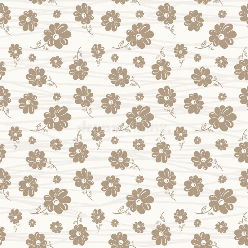 Картина цветка классических обоев безшовная винтажная бесплатная иллюстрация