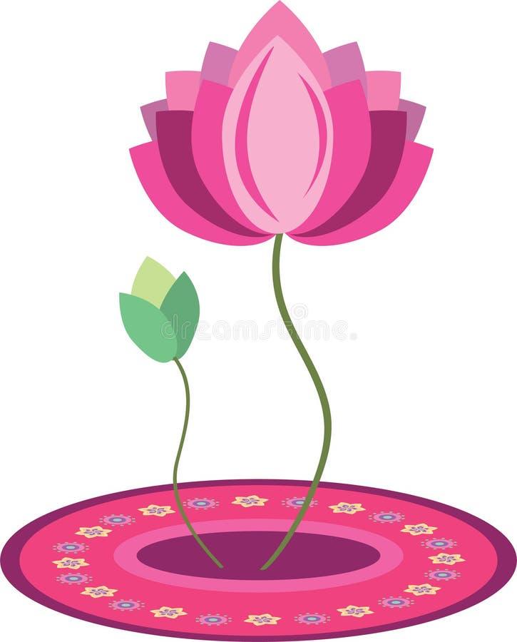 Картина цветка лотоса иллюстрация штока