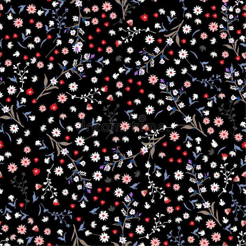 Картина цветка свободы безшовная, элегантное нежное ультрамодное в малом иллюстрация вектора