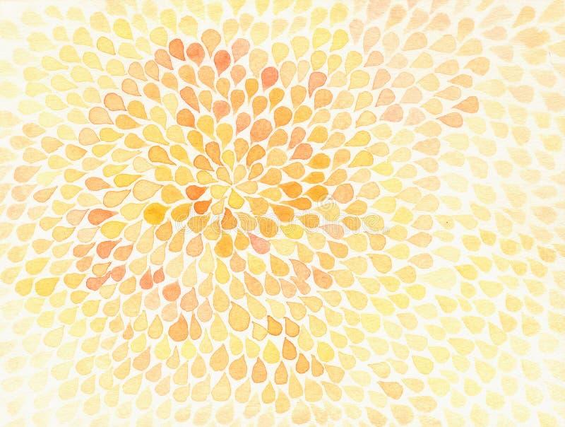 Картина цветка цветом воды на предпосылке белой бумаги иллюстрация вектора