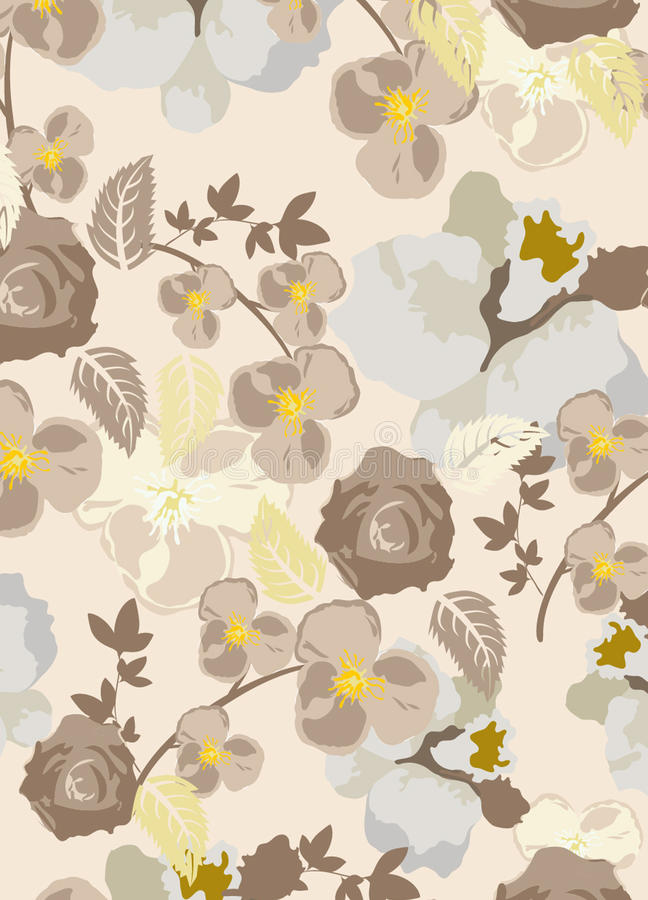 картина цветков безшовная бесплатная иллюстрация