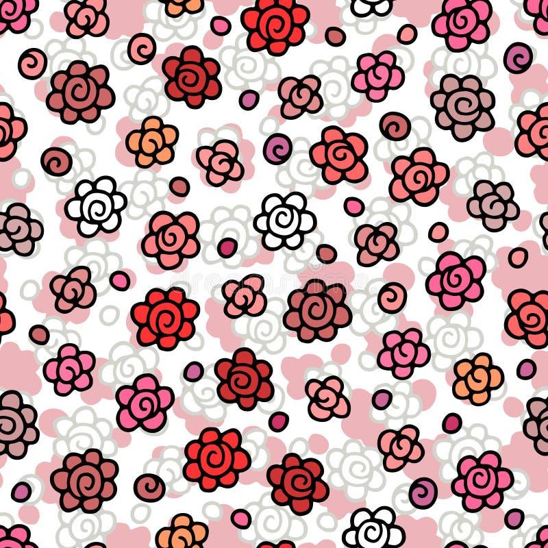 картина цветков безшовная иллюстрация штока