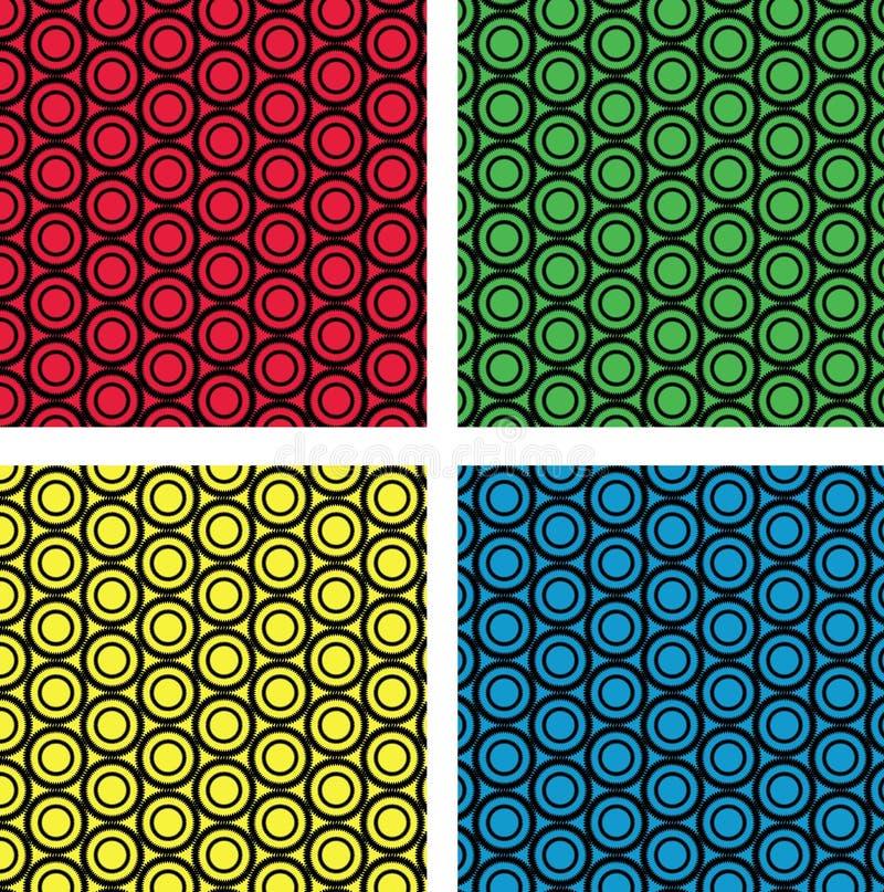 Картина цепных колес безшовная бесплатная иллюстрация