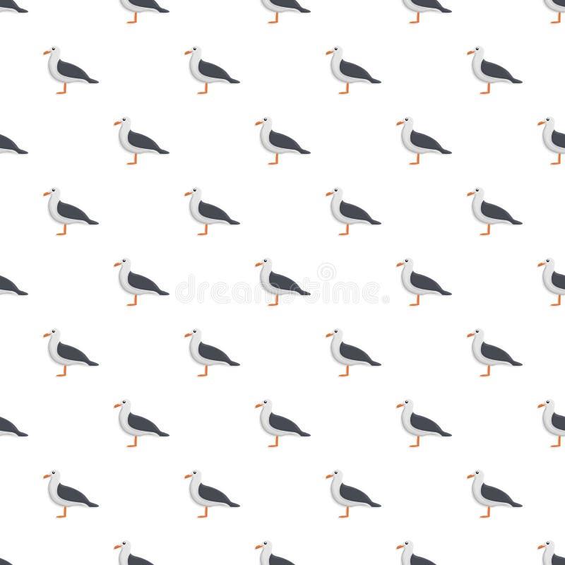 Картина чайки безшовная иллюстрация вектора