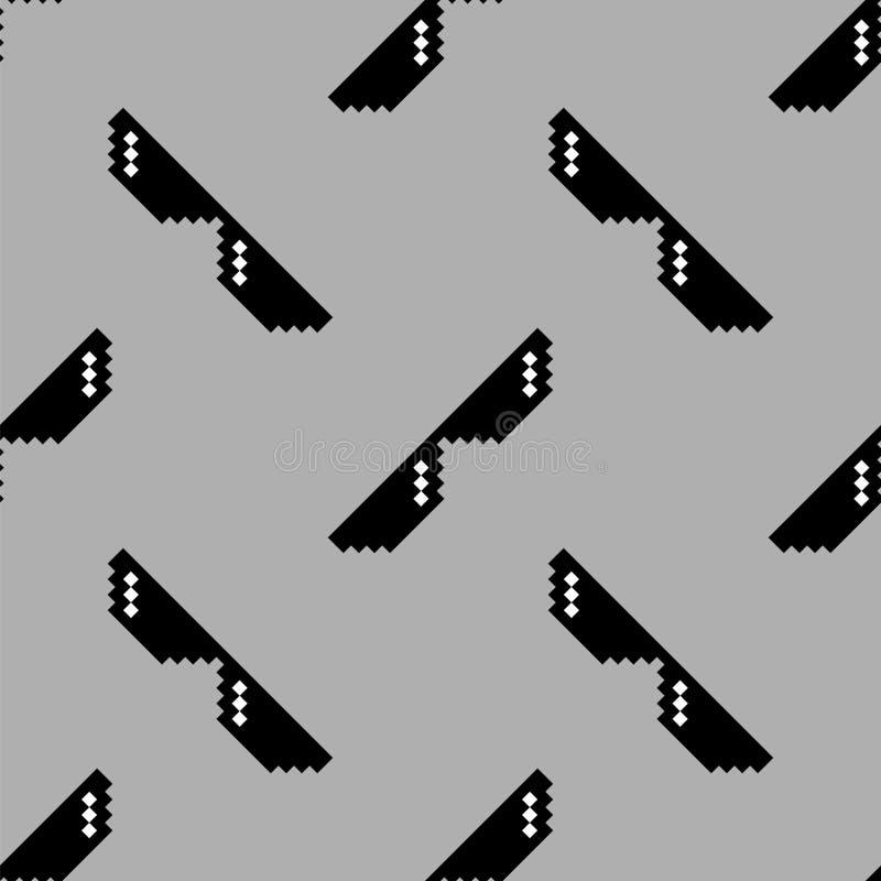 Картина черных солнечных очков пиксела безшовная иллюстрация штока