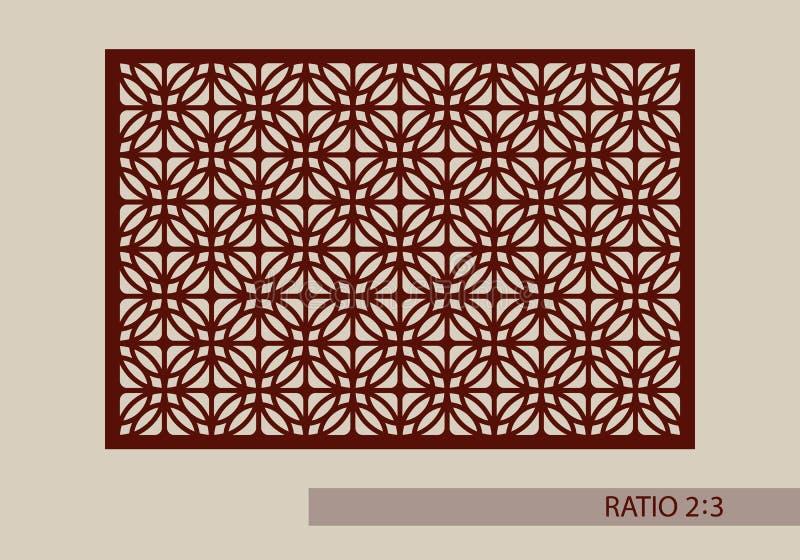 Картина шаблона для лазера режа декоративную панель иллюстрация вектора