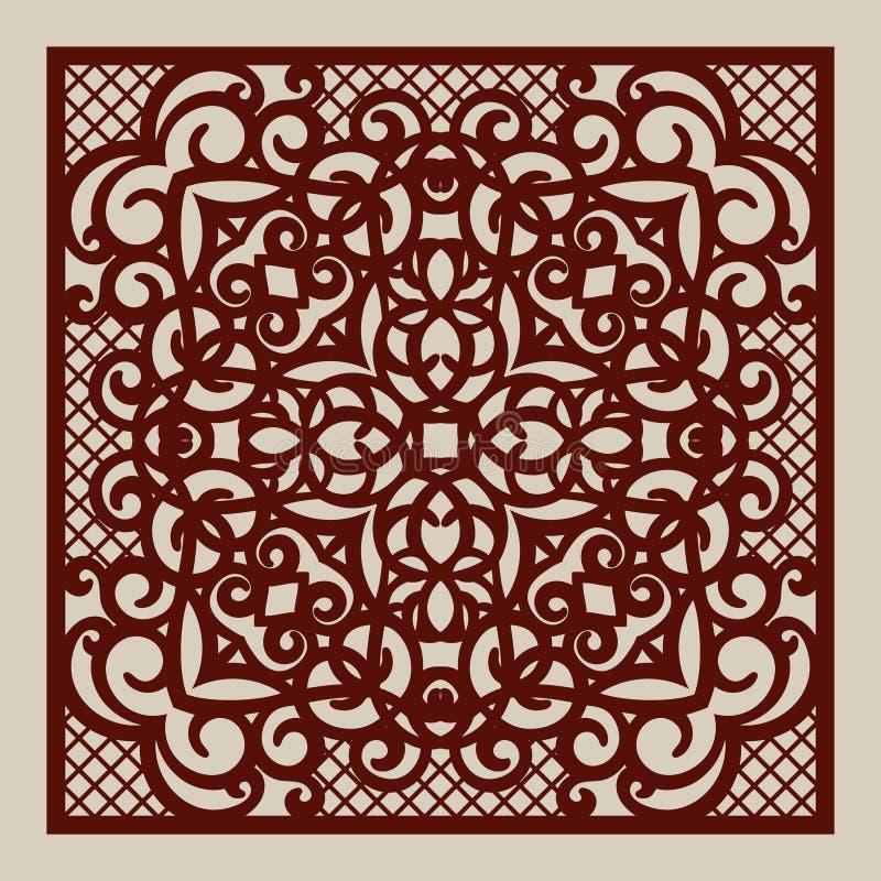 Картина шаблона для лазера режа декоративную панель иллюстрация штока