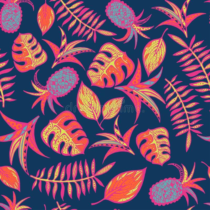 Картина шаржа тропическая стоковые фотографии rf