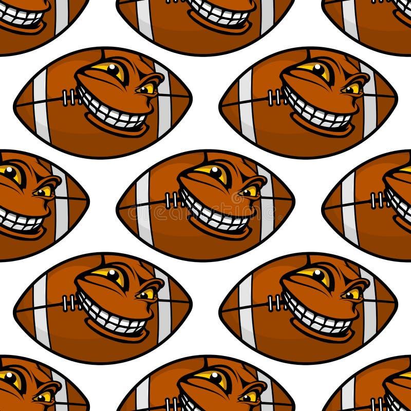 Картина шариков американского футбола безшовная бесплатная иллюстрация