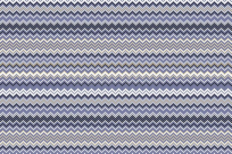 Картина шеврона моды абстрактная геометрическая вектор предпосылки безшовный bluets бежевое лилово иллюстрация штока