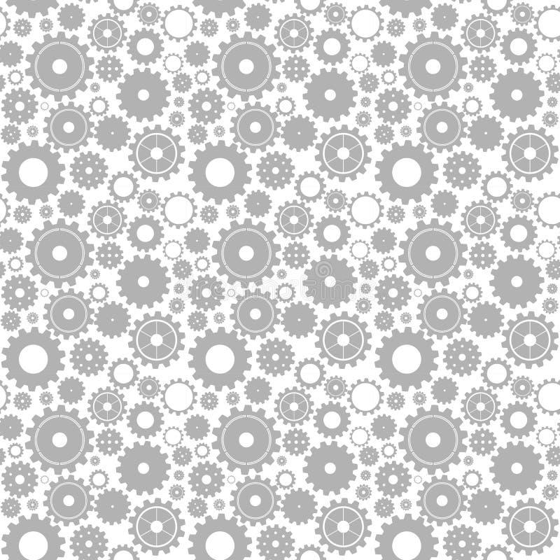 картина шестерни безшовная иллюстрация вектора