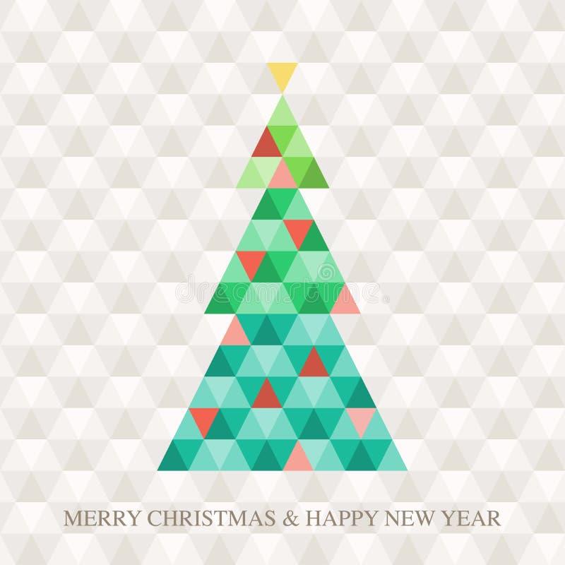 Картина шестиугольника рождественской елки бесплатная иллюстрация