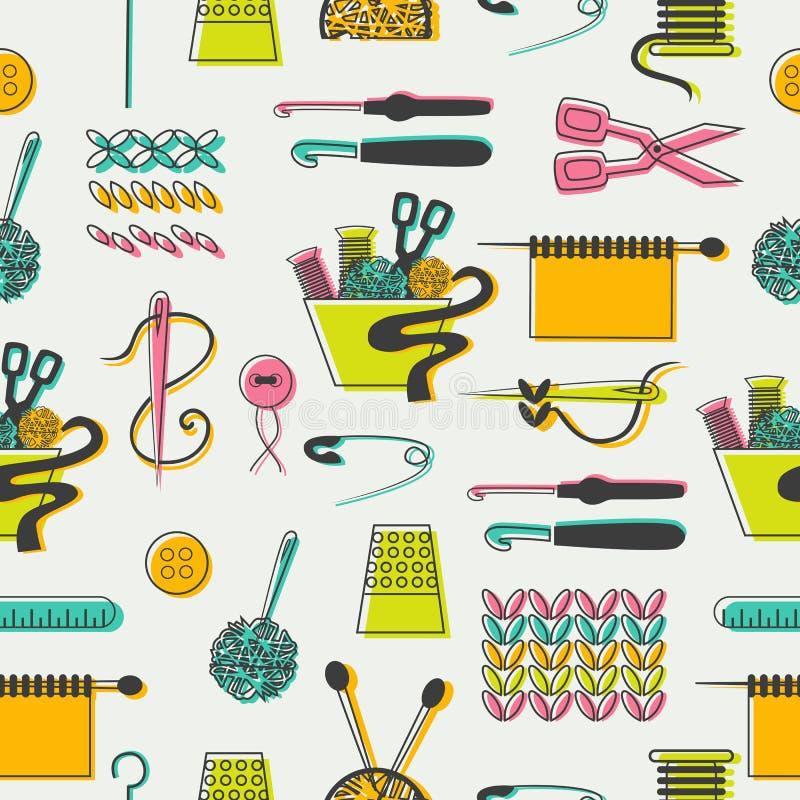Картина шить и needlework бесплатная иллюстрация