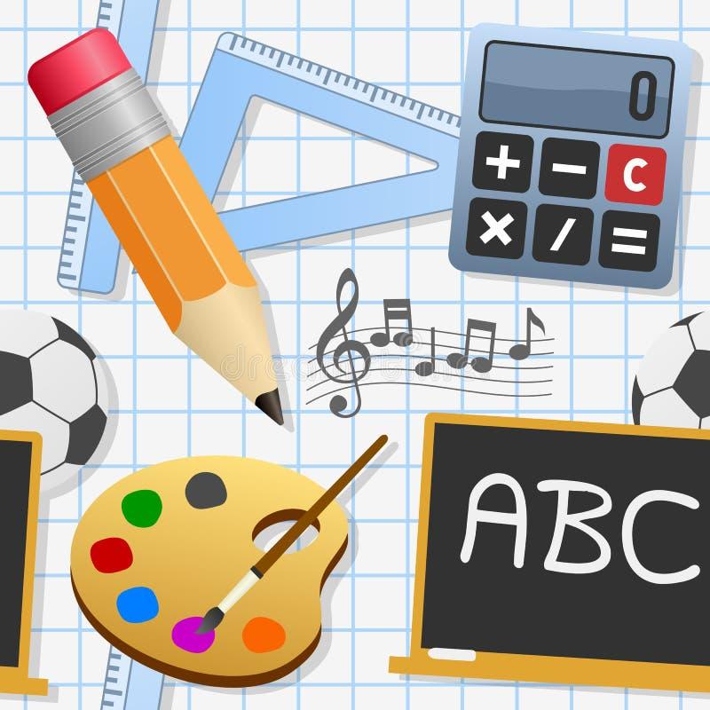 Картина школьного образования безшовная иллюстрация вектора