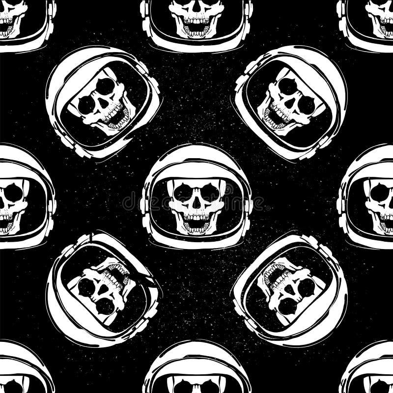 Картина шлема космоса Космический полет конспект против космоса портрета предпосылок женского наружного иллюстрация штока