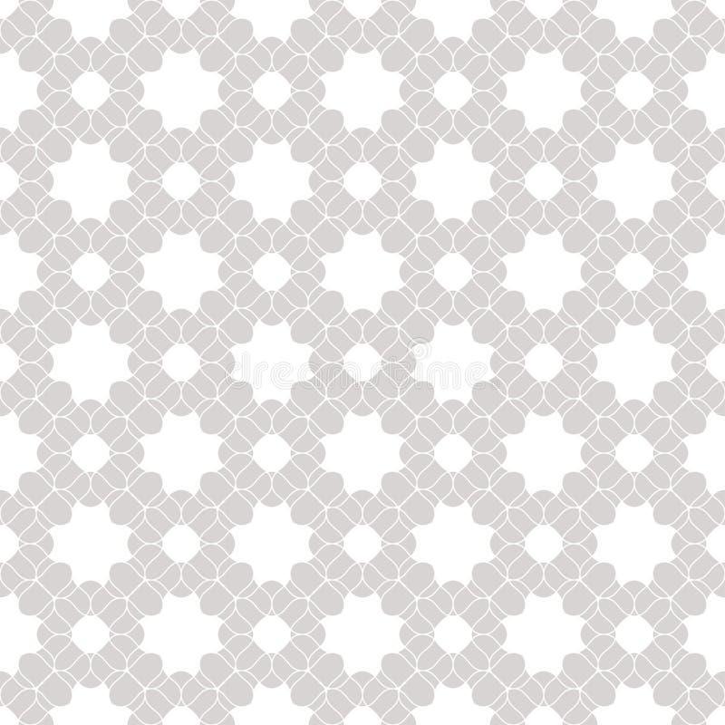 Картина шнурка вектора безшовная Тонкая белая и серая флористическая текстура предпосылки иллюстрация вектора