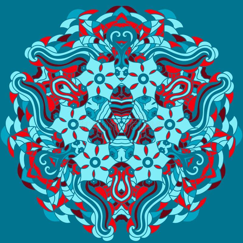 картина шнурка орнаментальная круглая иллюстрация штока