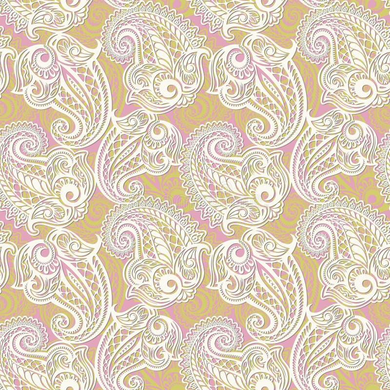 Картина шнурка Пейсли безшовная стоковые изображения rf
