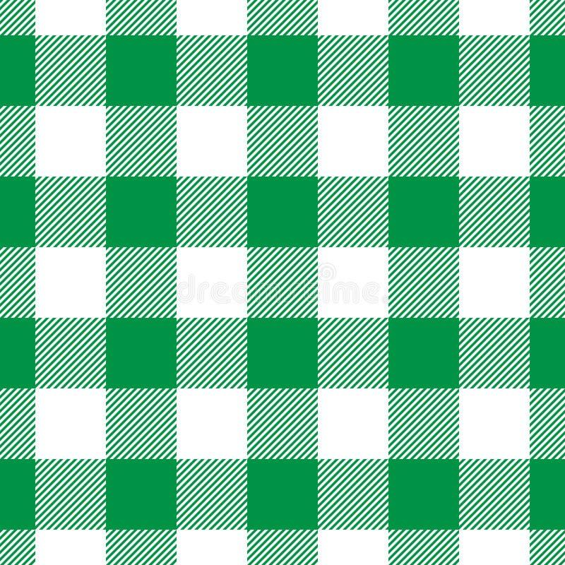 Картина шотландки Lumberjack в зеленом цвете и черноте вектор картины безшовный Простой винтажный дизайн ткани бесплатная иллюстрация