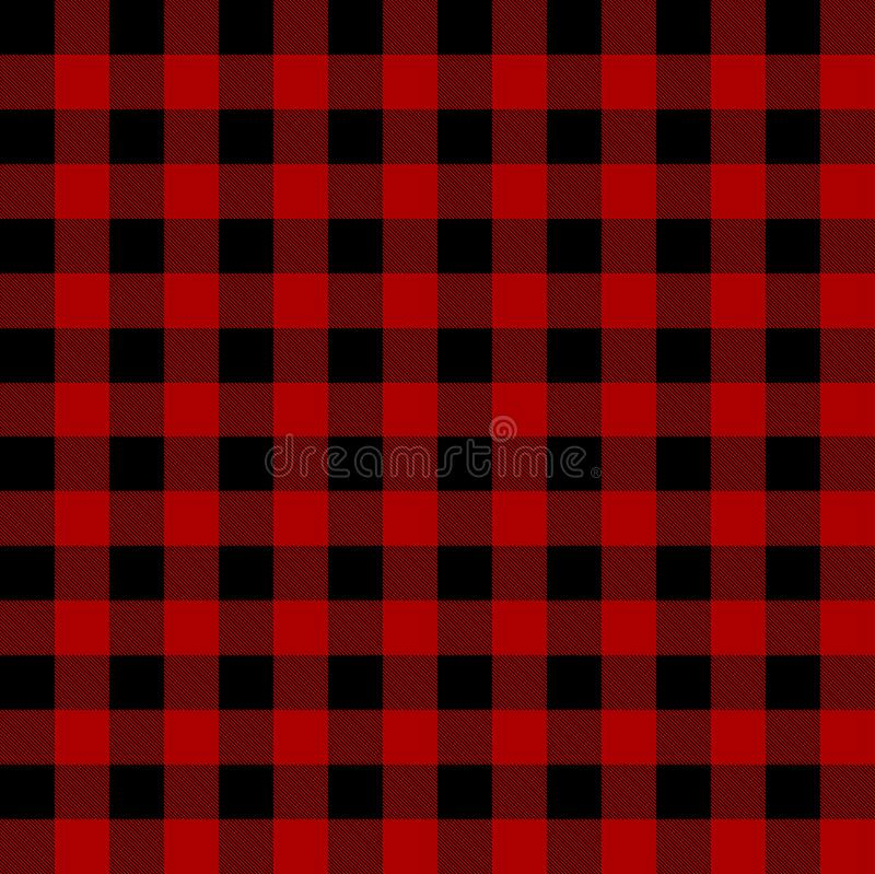 Картина шотландки Lumberjack иллюстрация штока