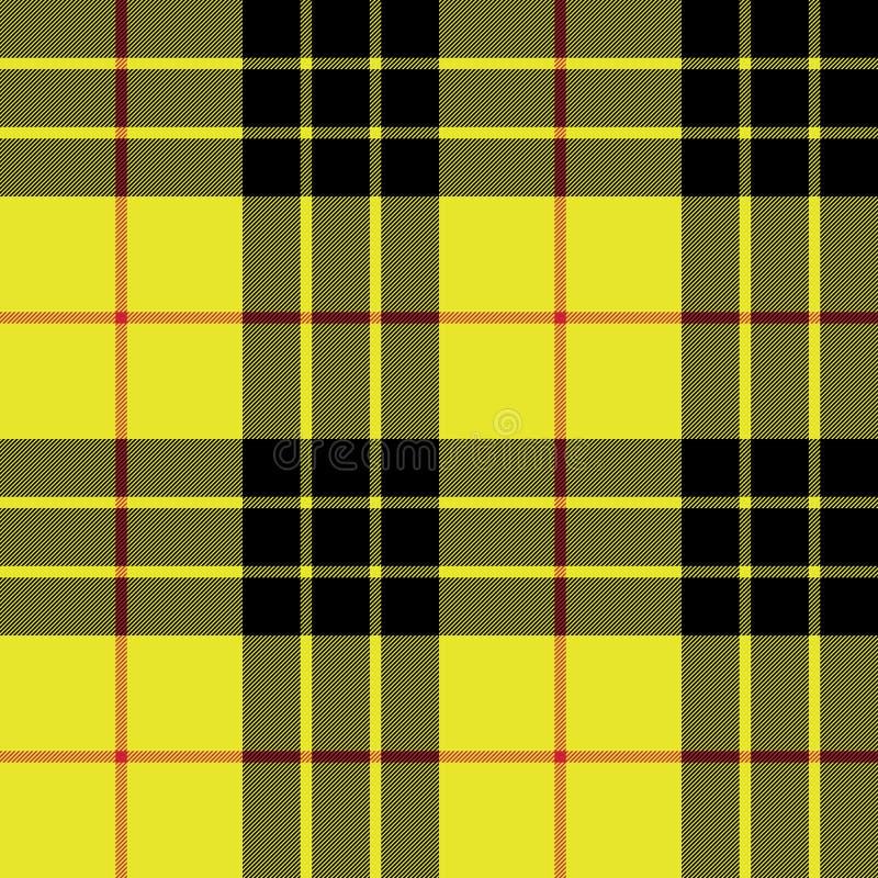 Картина шотландки текстуры ткани килта тартана Macleod безшовная иллюстрация вектора